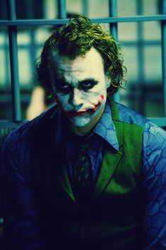 The Joker / Heath Ledger (The Dark Knight) Joker Dark Knight, The Dark Knight Trilogy, Joker Batman, Joker Art, Heath Ledger Joker Wallpaper, Joker Ledger, Joker Photos, Joker Images, Joker Pictures