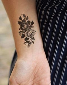 Forearm Rose Flower Cute Tattoo Design For Girls