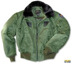 "This jacket is an authentic reproduction of the USAAF B-15 jacket, which replaced the venerable A-2 in 1943; features a synthetic fur collar and an embroidered ""Wing & Star"" AAF patch on the left sleeve. Made in the USA."