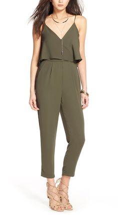 Dressed up or dressed down, this olive jumpsuit is so versatile for springtime wear! / @nordstrom #nordstrom