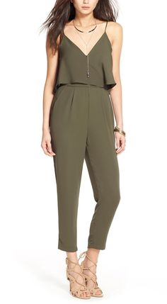 Dressed up or dressed down, this olive jumpsuit is so versatile for springtime…