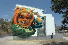 COLORES CON ARTE: FANZARA, UN PUEBLO CONVERTIDO EN MUSEO DE GRAFITER...