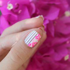Vietnam Inspired Floral Nail Art