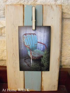 Really want to make a big version of this...craft night(s) anyone? At Home With K: Mini Plank Wood Frame