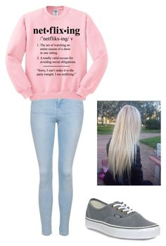 """""""net•flix•ing"""" by maybeckc ❤ liked on Polyvore featuring Topshop and Vans"""