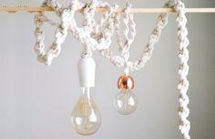Como fazer uma luminária de macramê! - dcoracao.com - blog de decoração e tutorial diy