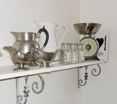 Pretty decorative shelf brackets—great kitchen pieces.