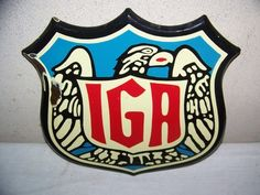 1940's IGA grocery store sign