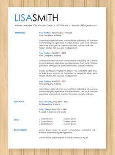 CV Resume Modern Blue Template Instant Word by ZeenDesigns on Etsy