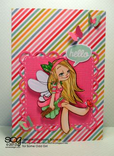 Get inspired and be creative. digi stamp: Butterfly friend fairy from @Some Odd Girl