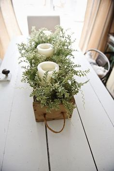 DIY Rustic Wooden Box Centerpiece - See How You Can Make This Beautiful Rustic Wooden Box . DIY Rustic Wooden Box Centerpiece - See How You Can Make This Beautiful Rustic . Wooden Box Centerpiece, Dining Room Table Centerpieces, Rustic Centerpieces, Centerpiece Ideas, Centrepieces, Christmas Dining Table Decorations, Dinning Room Table Decor, Flower Box Centerpiece, Porch Table