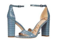 leather blue wedding shoes high heel sandals with faux croc embossing