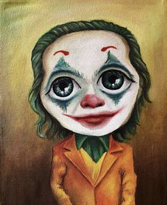 Óleo sobre tela 28x35cm Disney Characters, Fictional Characters, Joker, Childhood, Disney Princess, Painting, Art, Oil On Canvas, Art Background