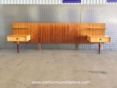 STYLISH MID CENTURY ITALIAN 1950'S KING SIZE HEADBOARD WITH BEDSIDE CABINETS on Gumtree. ITALIAN 1950'S KING SIZE HEADBOARD WITH BEDSIDE CABINETS DESCRIPTION A fabulous 1950's king si