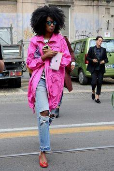 Julia Sarr Jamois in jeans