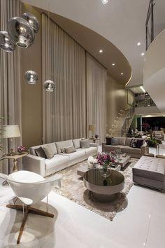 Salas de estar, tv e jantar integradas - maravilhosas! Confira todos os detalhes!