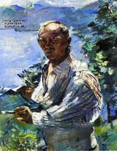 The Athenaeum - Large Self Portrait at the Walchensee (Lovis Corinth - ) Caspar David Friedrich, Expressionist Portraits, Carl Spitzweg, Literary Themes, Art And Architecture, Figurative Art, Art Images, Modern Art, Fine Art