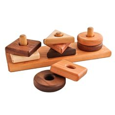 Wooden stacking toys and nesting toys. Wooden baby toys and natural baby toys from Bella Luna Toys. Making Wooden Toys, Handmade Wooden Toys, Wooden Baby Toys, Wood Toys, Wooden Diy, Wooden Toy Boxes, Handmade Baby, Handmade Shop, Woodworking For Kids