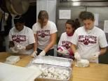 Bay Path College Women's Basketball Team Volunteers at Friends of the Homeless