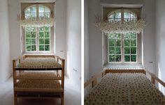 a room full of suspended dandelions | Regine Ramseier | Colossal Art + Design