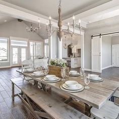 Relaxing Farmhouse Dining Room Design Ideas To Try French Country Kitchens, French Country Bedrooms, French Country Decorating, Rustic Kitchens, French Country Tables, French Country Lighting, Modern French Decor, French Rustic Decor, French Country Interiors