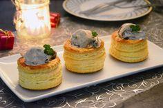 Une variante de la bouchée à la reine; version boudin blanc champignon, très sympa pour une entrée de fêtes ou un plat original