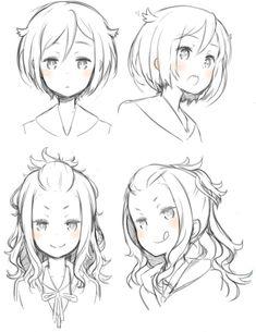 Anime Drawings Sketches, Illustration Sketches, Art Drawings, Realistic Drawings, Pencil Drawings, Anime Sketch, Art Illustrations, Drawing Hair Tutorial, Manga Drawing Tutorials