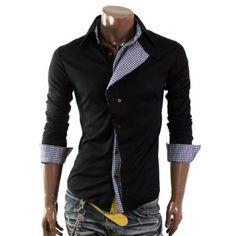 http://amzn.to/LMhuFp Herrenhemd Casual-Style Karo-Muster Smokinghemd