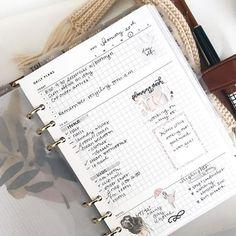 Creating A Bullet Journal, Bullet Journal Writing, Bullet Journal Layout, To Do Planner, Planner Layout, Binder Planner, Organizer Planner, Planner Inserts, Planner Template