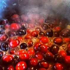 Cranberry, orange, port sauce for the goose on Christmas eve :)
