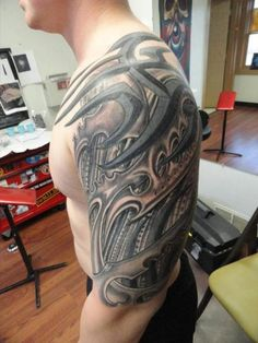 Biomechanical Half Sleeve Tattoo