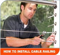Great How To Set up a Cable Railing System... {Check more|Read More|Learn more|More info} at { http://www.cablerailingdiy.com/ |the image {link|url}}