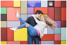 colorful discovery green downtown houston engagement session - Brett Denfeld Photography