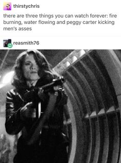 Peggy Carter, Bobbi Morse, and Natasha Romanoff. I could watch their fight scenes all day.