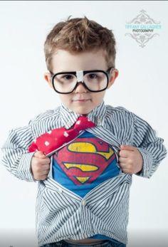 Superman- cool kid photo. Love those superheroes!