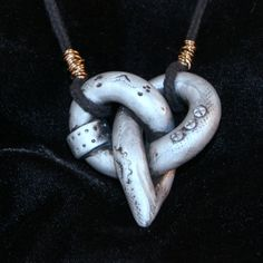Steampunk Polymer Clay Celtic Knot Heart