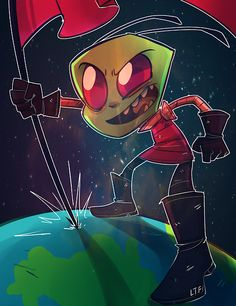 please read the FAQ or so help me Invader Zim Characters, Nickelodeon Cartoons, Space Invaders, Monster Art, Gremlins, Kids Shows, Ship Art, Old Movies, Looks Cool