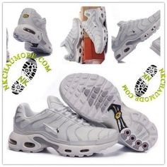 Montante | Nike Chaussure Sport Air Max Tn Requin Femme Gris Clair