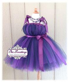 Tutu Dress, Flower Girl Tutu Dress, 0 to 24m, Tulle Dress, Photo Prop Tutu, Childrens Toddler Infant, Custom Tutu, Plum Eggplant Purple. $65.00, via Etsy.