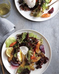 Roasted-Vegetable Salad with Poached Eggs Recipe | Martha Stewart