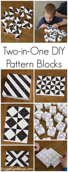 DIY Pattern Building Blocks: An Awesome STEM Activity for Kids. Explore lines, … DIY Pattern Building Blocks: An Awesome STEM Activity for Kids. Explore lines, shapes, and patterns by building with the blocks. Fun for any age – even big kids and parents! Stem Activities, Activities For Kids, Learning Activities, Bonding Activities, Kids Crafts, Kids Diy, Diy Gifts For Kids, Baby Crafts, Easy Gifts