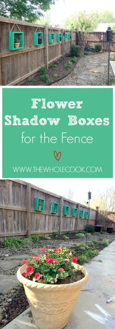 Shadow Boxes for the Fence Flower Shadow Boxes for the Fence: This DIY project will make your patio & backyard your favorite place!Flower Shadow Boxes for the Fence: This DIY project will make your patio & backyard your favorite place! Backyard Playground, Backyard Fences, Backyard Projects, Backyard Landscaping, Backyard Ideas, Patio Fence, Garden Fences, Luxury Landscaping, Landscaping Ideas