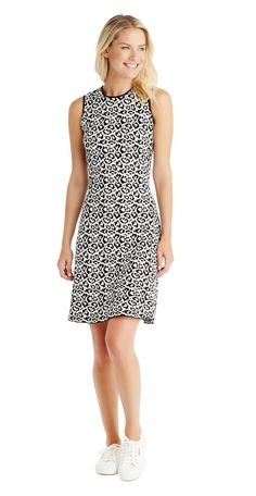 J.McLaughlin - Erica Dress in Cheetah Jacquard