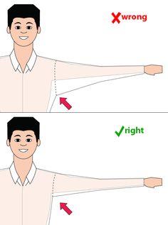 illustration of proper armholes