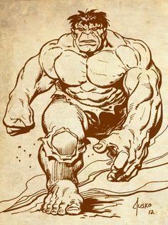#Hulk #Fan #Art. (Hulk) By: Joe Jusko. ÅWESOMENESS!!!™ ÅÅÅ+