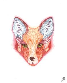 A fox could be quilled in a similar fashion!
