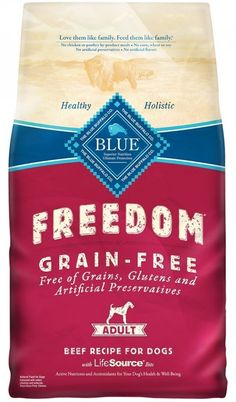 Blue Buffalo Blue Freedom Adult Beef Bag, 4 lb. -- For more information, visit image link. (This is an affiliate link and I receive a commission for the sales)