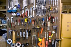 for reorganizing our tools pegboard in the basement