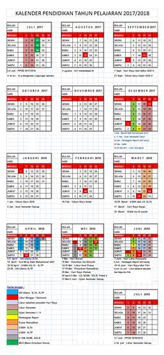 DOWNLOAD KALENDER PENDIDIKAN TAHUN PELAJARAN 2017/2018 | PENDIDIKAN KEWARGANEGARAAN Microsoft Excel, Periodic Table, Education, Words, Doa, Design, Barbie, Vans, Wallpaper