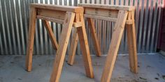 How to Build Stackable Sawhorses